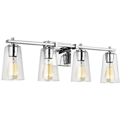 """Feiss Mercer 28 3/4"""" Wide Chrome 4-Light Bath Light"""