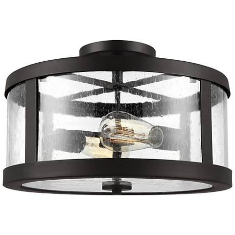 "Feiss Harrow 15""W Oil Rubbed Bronze 2-Light Ceiling Light"