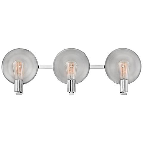 "Hinkley Boyer 26 3/4""W Polished Nickel 3-Light Bath Light"