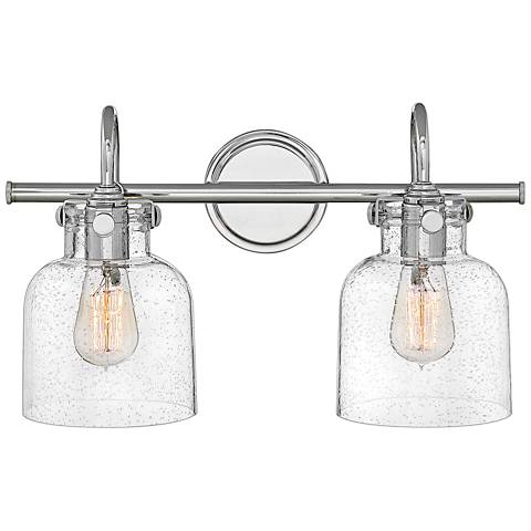 "Hinkley Congress 11 1/4"" High Chrome 2-Light Wall Sconce"