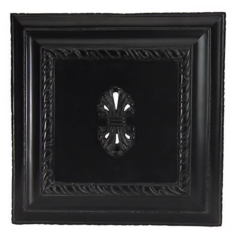 Large Black Carved Door Chime