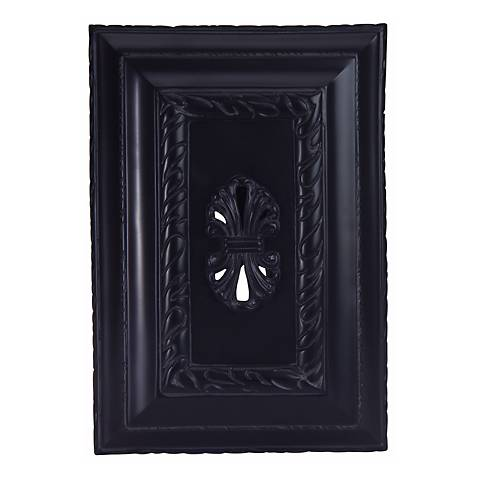 Black Carved Door Chime