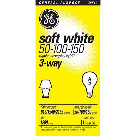 GE Soft White 3-Way Light Bulb