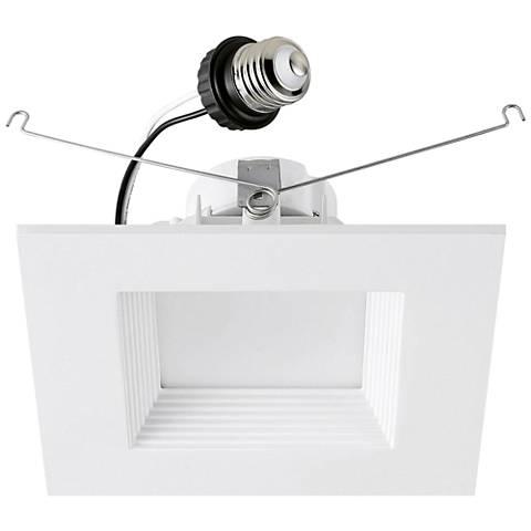 "6"" Cyber Tech 15 Watt LED Retrofit Baffle Trim in Off-White"