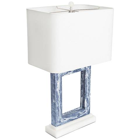 Couture Pacific Heights Blue Marble Table Lamp