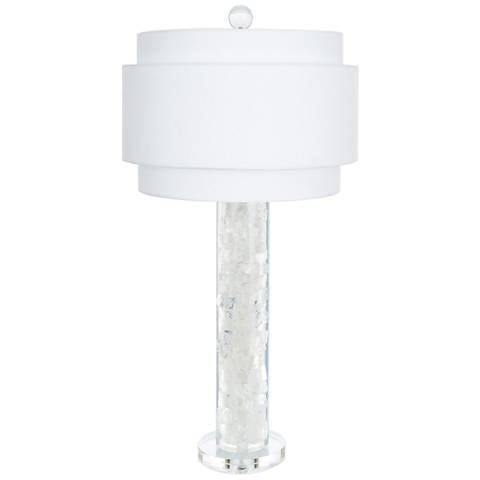 Couture Montrose Clear and White Table Lamp