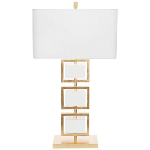 Couture Coventry Gold Leaf and White Table Lamp
