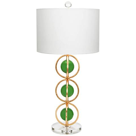 Couture Anderson Gold Leaf and Kelly Green Table Lamp