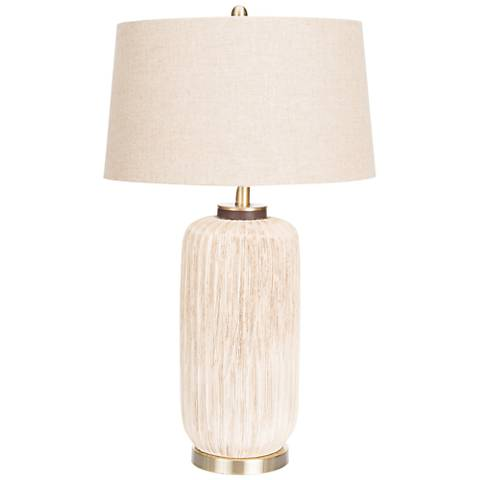 Couture Ryder Earth Tone and Antique Brass Table Lamp