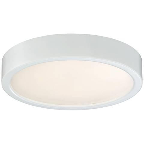 "George Kovacs Puzo 8"" Wide White LED Ceiling Light"