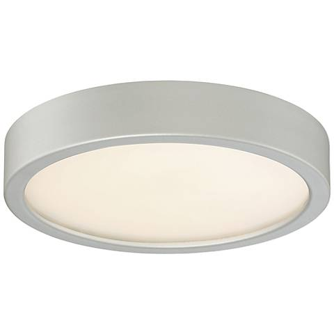 "George Kovacs Puzo 8"" Wide Silver LED Ceiling Light"