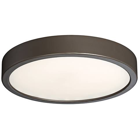 """George Kovacs Puzo 10"""" Wide Copper Bronze LED Ceiling Light"""