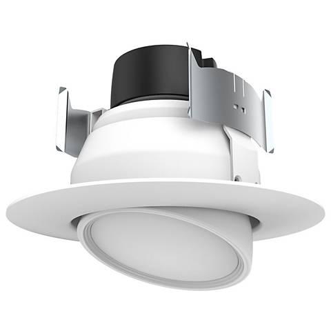 "4"" Swivel 45W Replacement LED Retrofit Gimbaled White Trim"