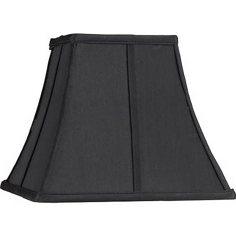 Square Curved Black Lamp Shade 6x11x9.75 (Spider)