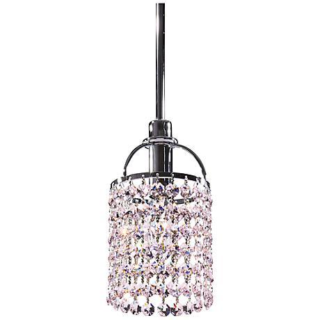 Echo Rosaline Pink Crystal Mini Pendant Chandelier