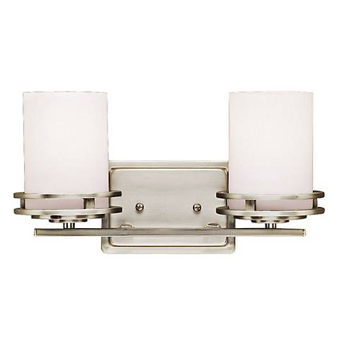"""Hendrik Nickel 14 1/2"""" Wide Bathroom Light Fixture"""