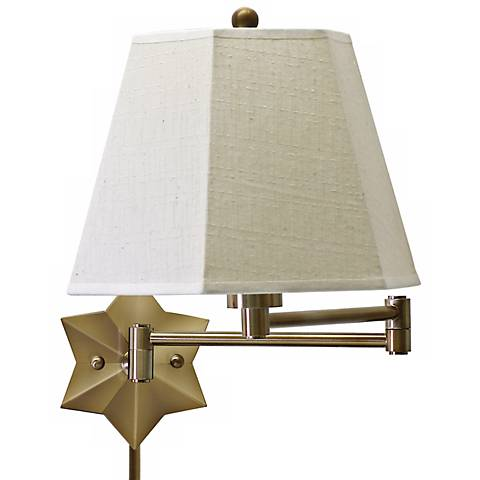 Brass Star of the Show Plug-In Swing Arm Wall Lamp