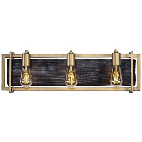 "Varaluz Madeira 25 3/4"" Wide Rustic Gold 3-LED Bath Light"