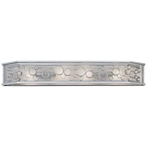 "Fascination 39 1/2"" Wide Metallic Silver 4-Light Bath Light"