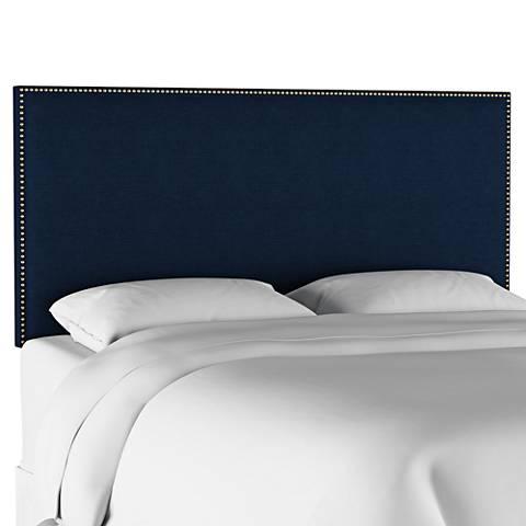 Terese Navy Linen Fabric Headboard