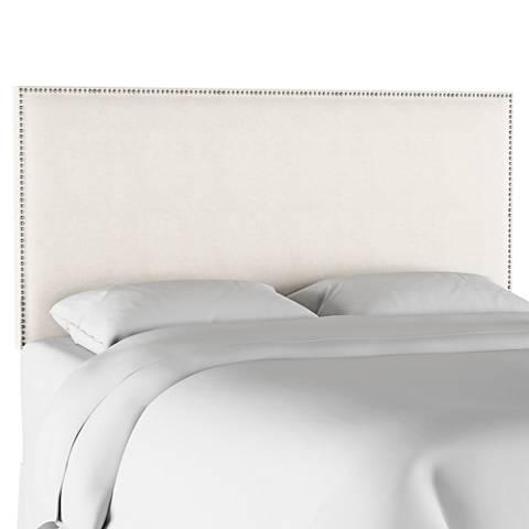 Terese Talc Linen Fabric Headboard
