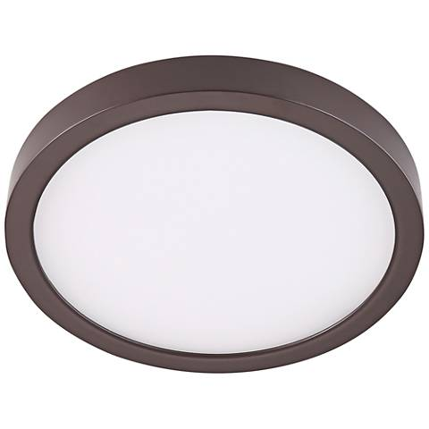 """Disk 12"""" Wide Bronze Round LED Ceiling Light"""