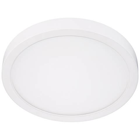 "Disk 8"" Wide White Round LED Ceiling Light"