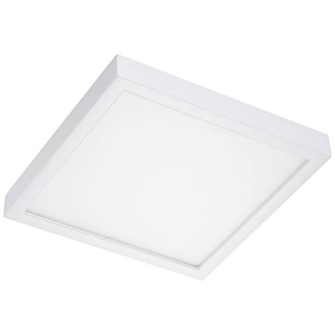 "Disk 8"" Wide White Square LED Ceiling Light"