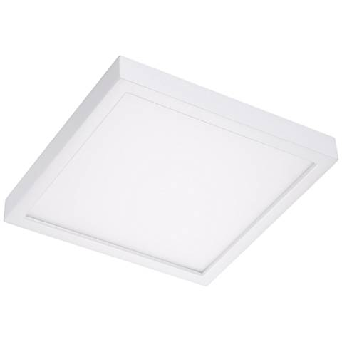 "Disk 12"" Wide White Square LED Ceiling Light"