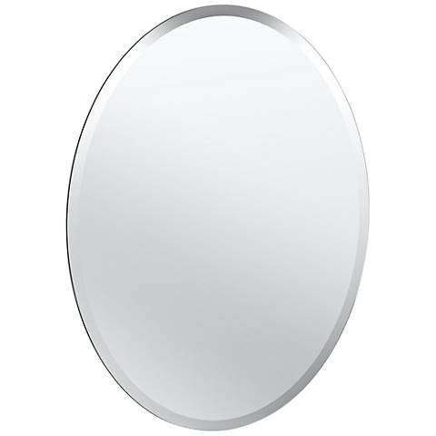 "Cameo Flush Mount 19 1/2"" x 26 1/2"" Frameless Wall Mirror"