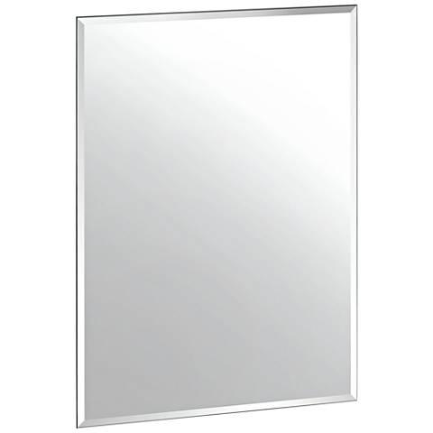 "Cameo Flush Mount 23 1/2"" x 31 1/2"" Frameless Wall Mirror"