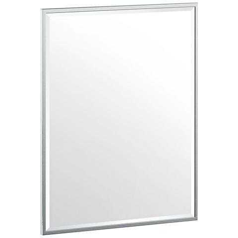 "Luxe Flush Mount Chrome 24 1/2"" x 32 1/2"" Framed Wall Mirror"