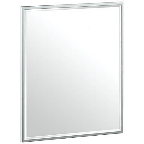 "Luxe Flush Mount Chrome 20 1/2"" x 25"" Framed Wall Mirror"