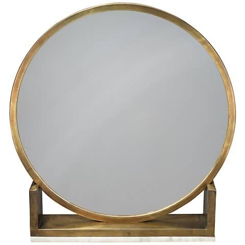 Jamie Young Odyssey Antique Brass Standing Mirror