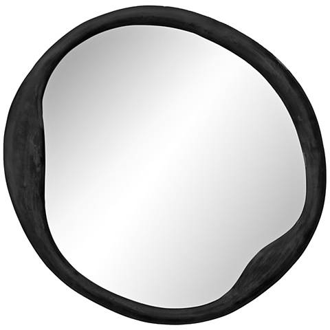 "Jamie Young Organic Antique Iron 36"" Round Wall Mirror"