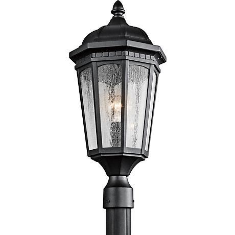 "Kichler Courtyard 23 3/4"" High Black Outdoor Post Light"