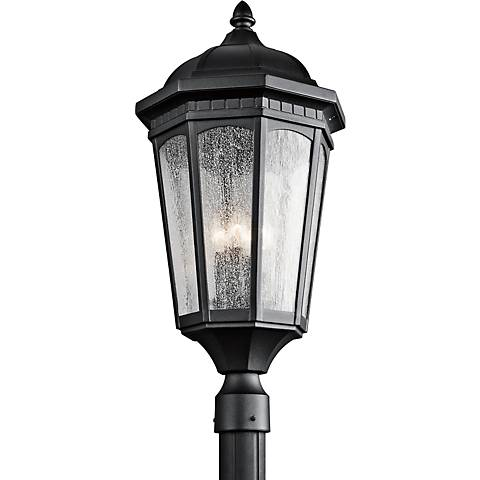 "Kichler Courtyard 27"" High Black Outdoor Post Light"