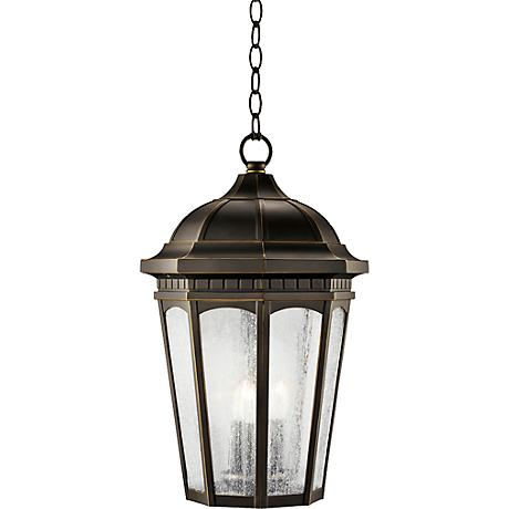 "Kichler Courtyard Rubbed 21 1/2""H Outdoor Hanging Light"