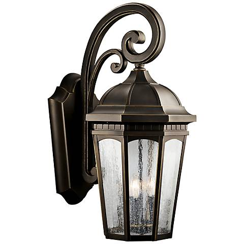 "Kichler Courtyard 26 1/2"" High Bronze Outdoor Wall Light"