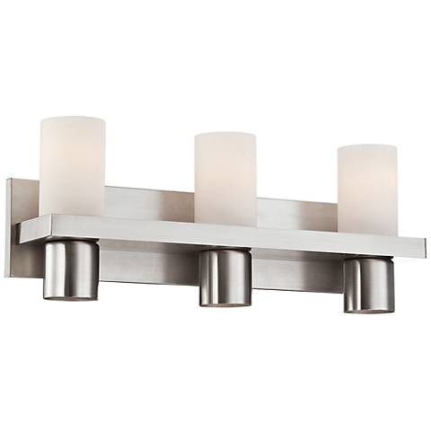 """Pillar Collection 20"""" Wide Brushed Nickel Bath Light"""