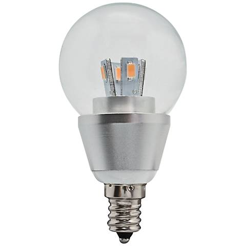 30W Equivalent Clear 4W LED Dimmable Candelabra Fan Bulb