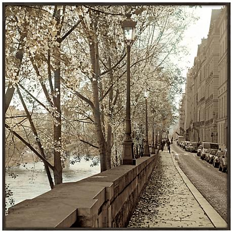 "Paris Plaza I 20 1/2"" Square Framed Giclee Wall Art"