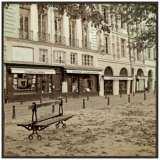 "Paris Plaza II 20 1/2"" Square Framed Giclee Wall Art"