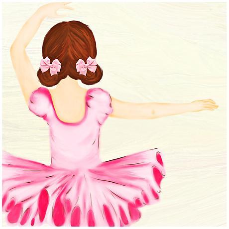 "Ballerina 23"" Square Girls' Room Giclee Wall Art"