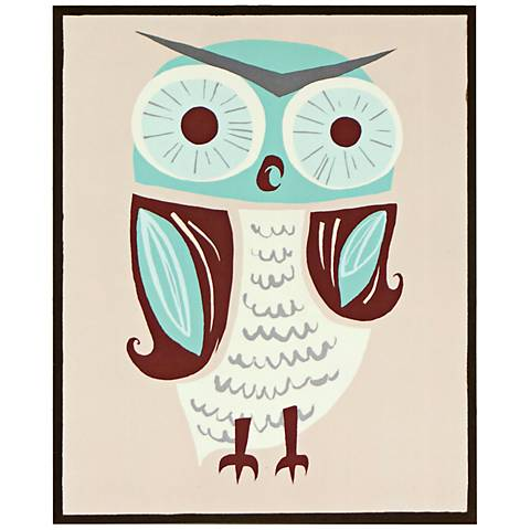 "Mr. Owl 14 1/2"" High Retro Modern Giclee Wall Art"