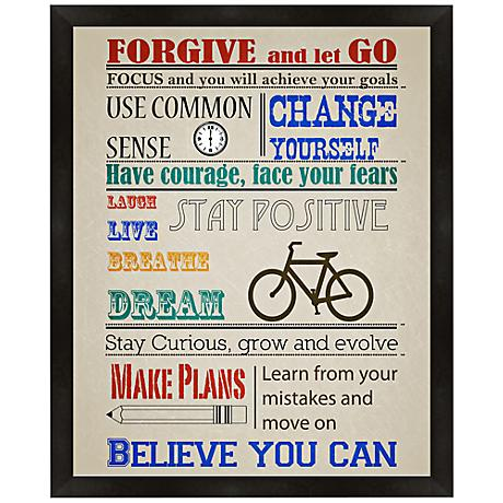 """Inspirational Thoughts 22"""" High Framed Giclee Wall Art"""