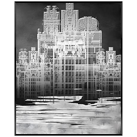 """White Cityscape 20"""" High Contemporary Giclee Wall Art"""
