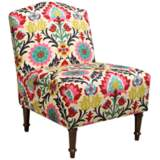 Zulle Santa Maria Desert Flower Camel Back Accent Chair