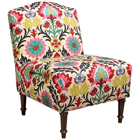 Zulle Santa Maria Desert Flower Camel Back Accent Chair