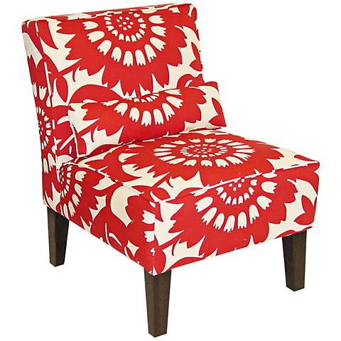 Gerber Cherry Upholstered Armless Accent Chair